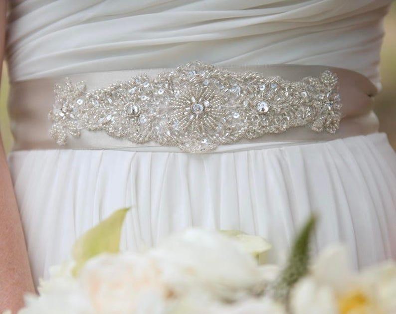 Beaded Wedding Sashes for Dresses
