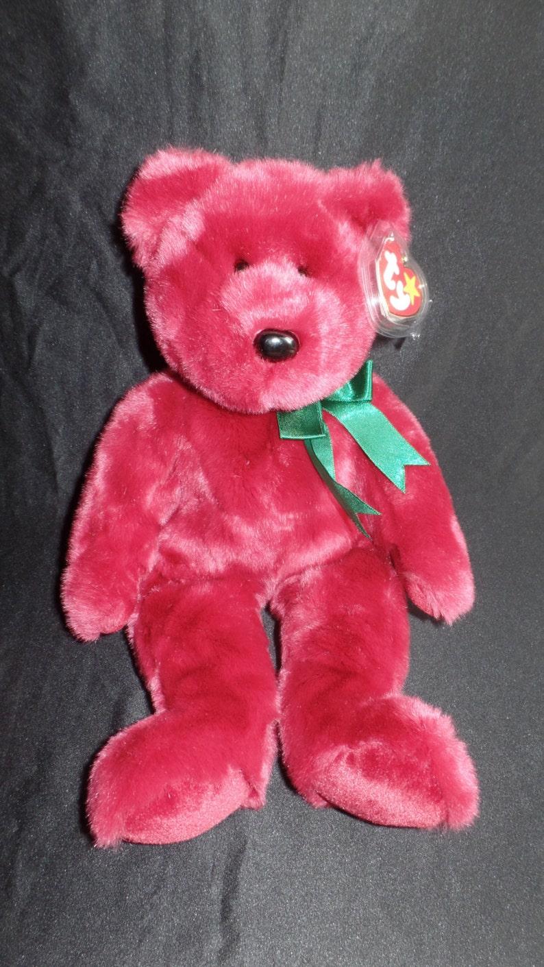bf788394644 Teddy the Beanie Baby Cranberry Bear Original Beanie Buddy