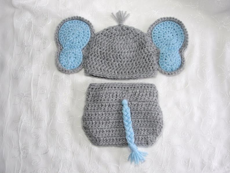 Newborn Elephant Photo PropNewborn Baby Boy Elephant Hat and  34d8a9e54f4