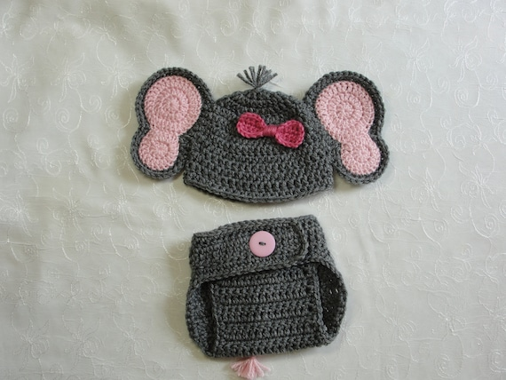 Jeffery Jr the Elephant Hat and Diaper Cover Baby Set PDF Crochet ... | 428x570