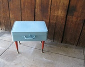 Vintage Refurbished Mid Century Modern Suitcase Table