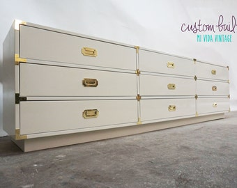 BUILT2ORDER // Custom Made Campaign Dressers & Credenzas - Your Choice of Lacquer Color or Finish - Now Using AUTOMOTIVE finishes