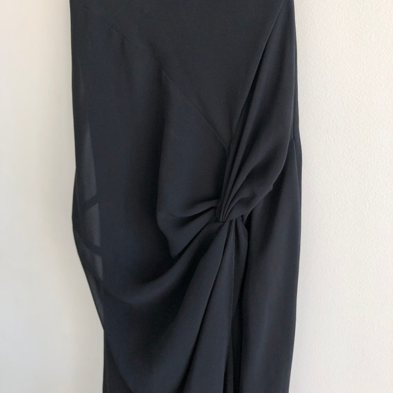 Cowl Neck Elegant Evening Dress - image 3
