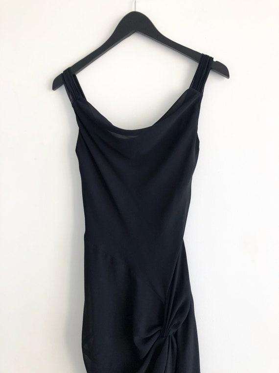 Cowl Neck Elegant Evening Dress
