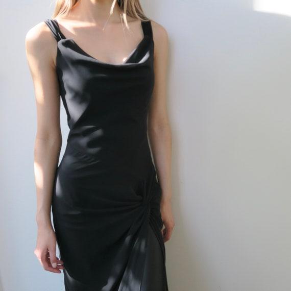 Cowl Neck Elegant Evening Dress - image 4