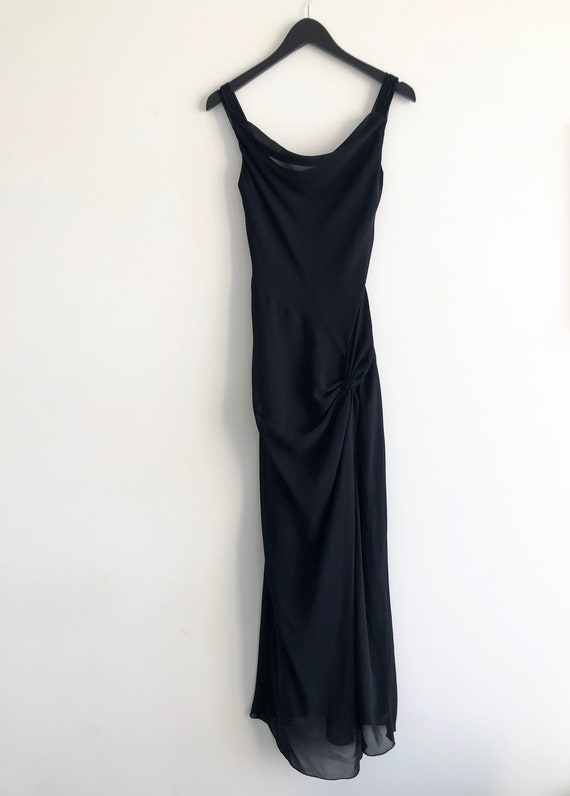 Cowl Neck Elegant Evening Dress - image 2