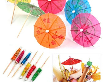 144Pcs Paper Cocktail Drink Umbrellas Cup Cake Parasols Picks For Flamingo Party Drinks