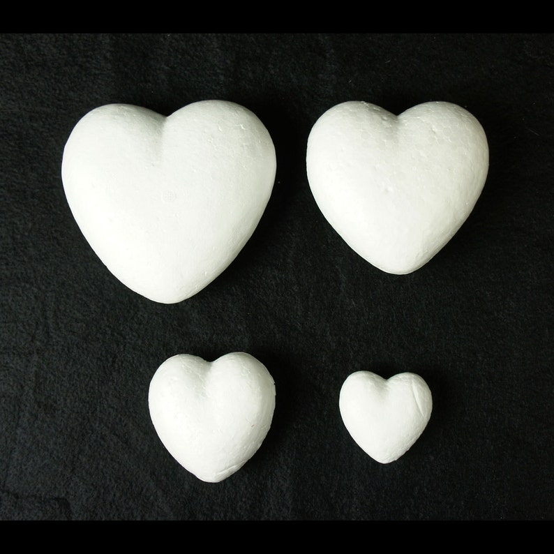 EPS Styrofoam Heart Size 14 or 18x2 18 16