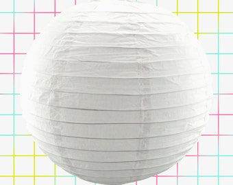 "12"" White Chinese Hanging Paper Lantern Party Decorations Outdoor Patio Japanese Asian Oriental Wedding Lanterns Frozen Birthday Baby Shower"