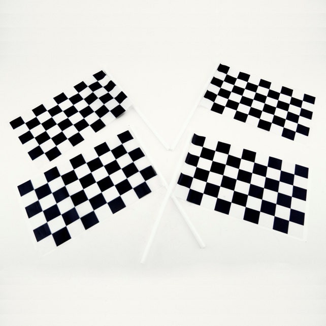Plastic Checkered Nascar Mini Racing Flags Theme Cars Party Favors