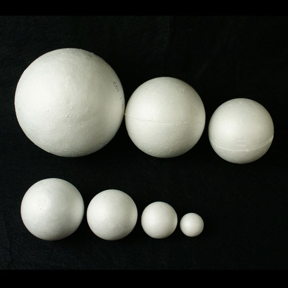 4-Pack Smooth Round Polystyrene Foam Balls Craft Supplies Craft Foam Balls 4 Inches Diameter Ornaments DIY Perfect for Art White School Projects Science Modeling Wedding Decoration