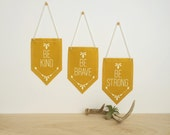 DISCONTINUED - Trio of Virtue Banners - Be Kind, Be Brave, Be Strong