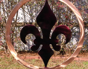 Fleur De Lis Yard Art