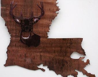 La State Plaque w/ Deer