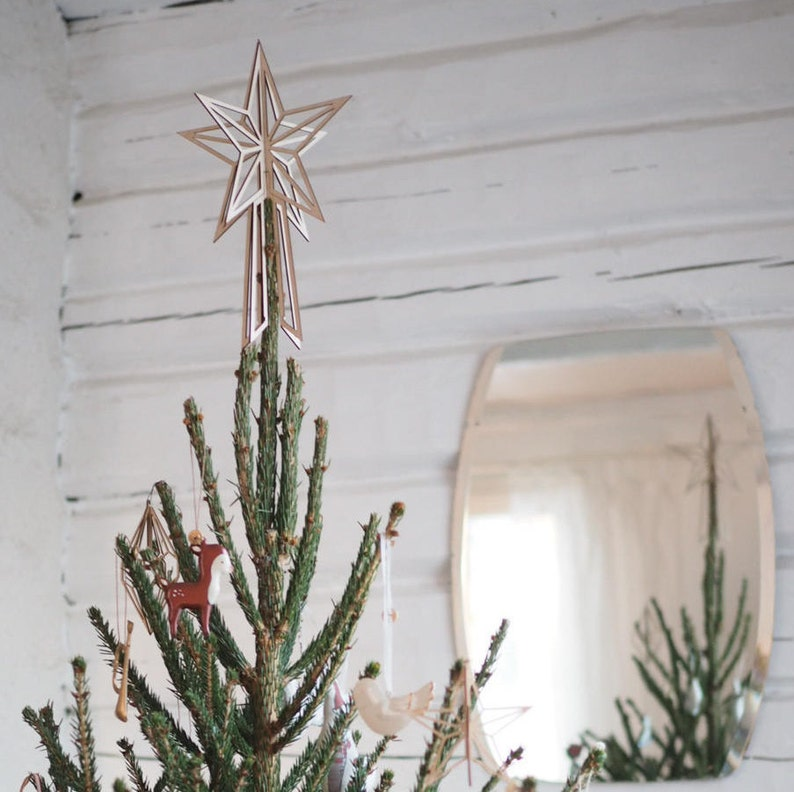 Big Wooden Christmas Tree Topper
