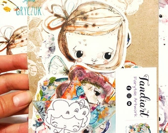 TandiArt Sticker Pack 10 , fairy stickers, illustrations, planner stickers, butterflies, deer