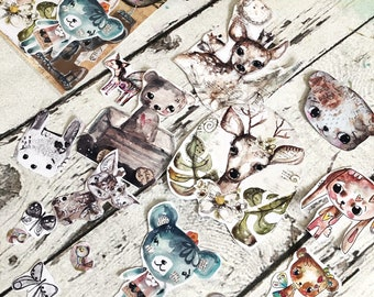 TandiArt Sticker Pack no 26 -Animals stickers, illustrations, planner stickers, butterflies, deer