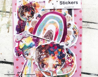 TandiArt Sticker Pack no 21 Boholoand fairy stickers, illustrations, planner stickers, wood collection