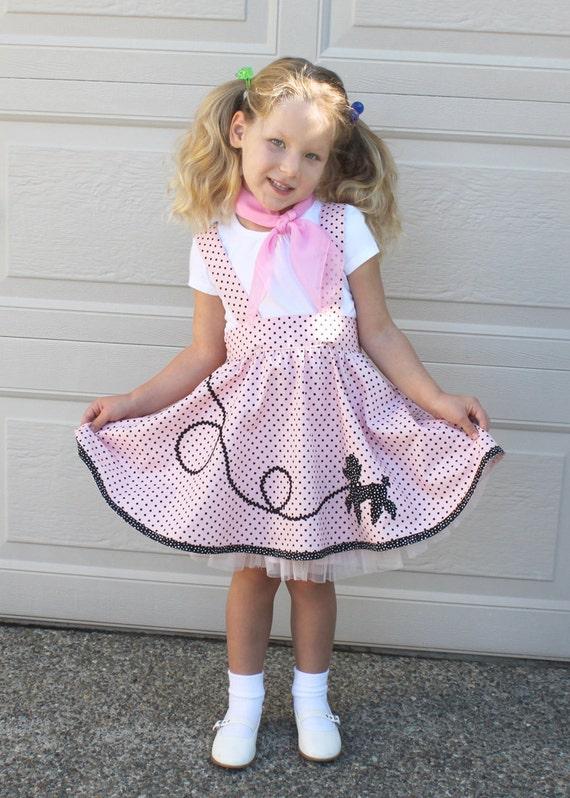 Girls Poodle Skirt Pattern Suspender Skirt Pdf Sewing Etsy