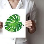 Plant Art Print, Plant Illustration, Wall Decor Art Print, Gift For Nature Lover - Geometric plant art print - monstera,