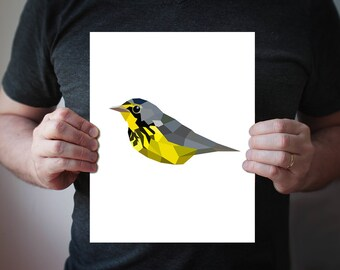 Colibri oiseau art affiche géométrique art minimaliste art   Etsy 2267efee8d7