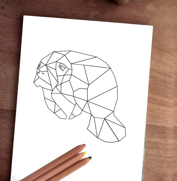 Colorante imprimible 8 x 10 jpg manatí | Etsy
