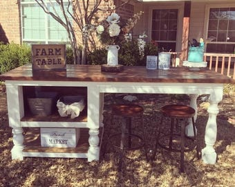 Farmhouse Tables Islands And Decor By FarmTable On Etsy - Etsy kitchen island