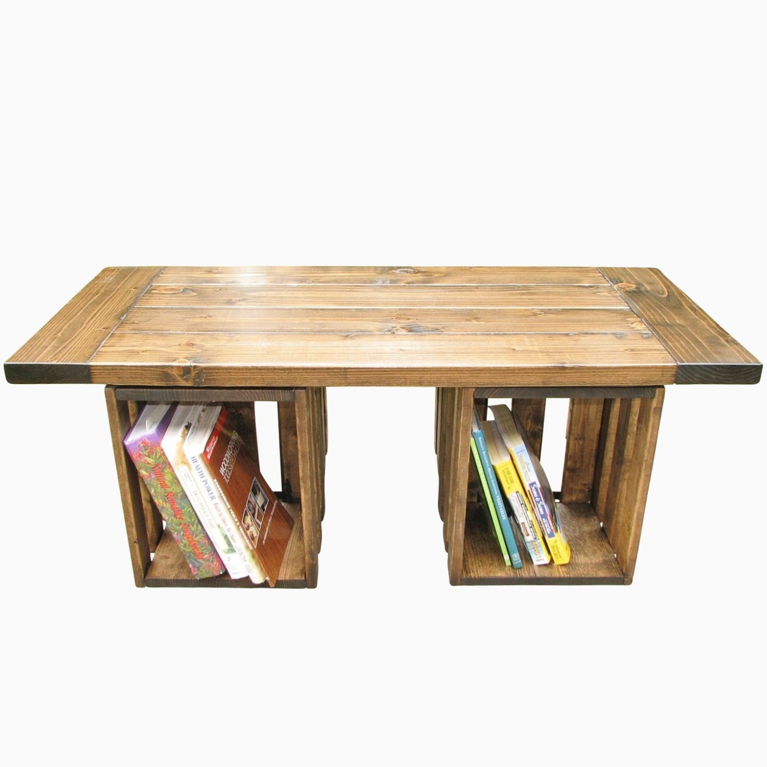 Storage Coffee Table Farmhouse: Coffee Table Farmhouse Rustic Crate Storage Country
