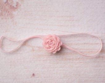 Pale Pink Flower Headband, Pale Pink Headbands, Headbands Pale PInk, Newborn Headbands, Baby Headbands, Baby Flower Headbands