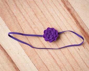 FREE SHIPPING! Newborn Headband, Purple Headband, Baby Headband, Baby Flower Headbands, Baby Girl Headbands, Purple Flower Headbands