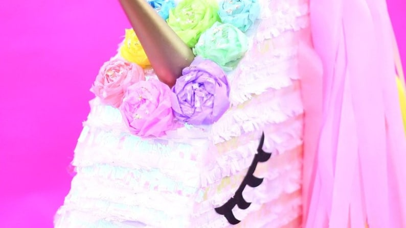 Unicorn Piñata  Template  Instant Download  For Birthday image 0