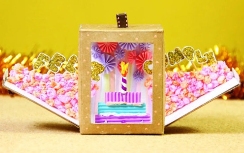 Happy Birthday Box  Template  Instant Download  Birthday image 0