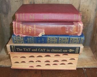Lot Of Vintage Hardcover Books Reading Staging Bookshelf Filler