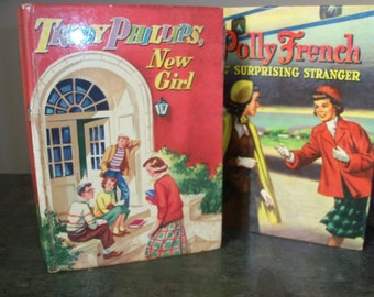 Set of 2 1950's Vintage Books Polly French and Trudy Phillips