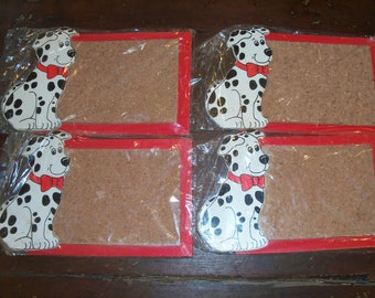 Set of 4 Children's Small Corkboards Dalmation Dog Puppy Wall Hanging