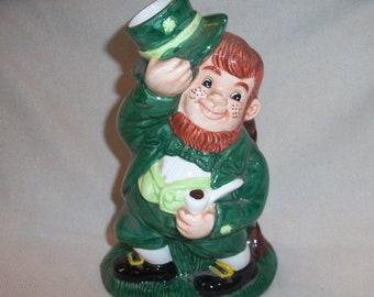 Vintage Leprechaun Irish St. Patrick's Day Ceramic Figurine