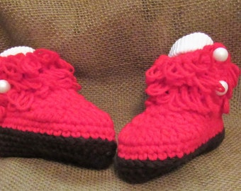 5a349197c3c4f8 c8 3 to 9 Months Red Crochet Boots