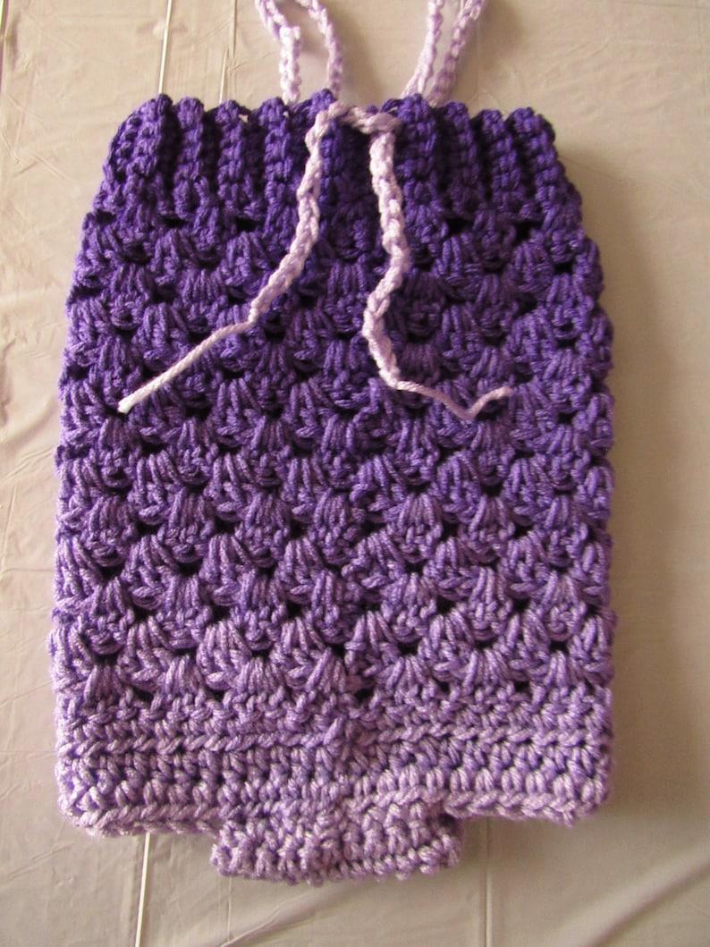 Hand Crocheted Purple Baby Romper One of a Kind Unique Newborn to 12 Months Purple Romper Baby Romper Baby Romper Photo Prop