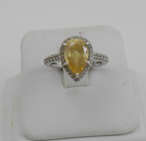 Faux Amethyst Ring Vintage McGrath Hamin Nickel Silver Double Heart  Purple Rhinestone Ring Size 6 Nickel Silver MH Pinky Heart Ring