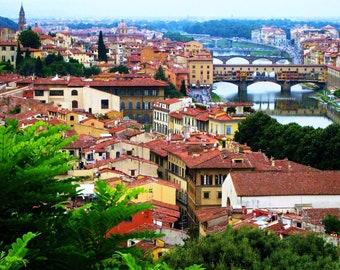 Italian Landscape - Florence, Italy - European, Travel, Nature, Tuscany, Tuscan, Architecture, Firenze, Fine Art Photography