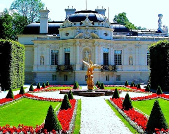 Travel Photography- Bavarian Palace and Gardens- German, Garden, Nature, Historic, European, Fine Art Photography