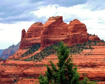 Travel Photography- The Red Rocks of Sedona, Arizona- Nature, Southwestern, Fine Art Photography- 8x10 Etsy Wall Art