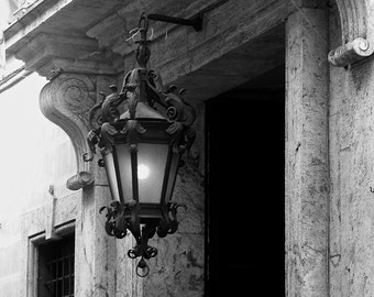 Travel Photography - Tuscan Lighting - Italian, European, Tuscany, Black and White, Monochromatic, Minimalist, Fine Art Photography