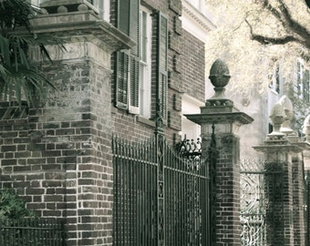 Travel Photography - Charleston Of The Past - Architectural, S. Carolina, Southern, Iron Gate, Romantic, City Street, Fine Art Photography