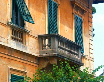 Travel Photography - Open Shutters in Tuscany - Florence, Italy, Tuscan, European, Architectural, Fine Art Photography