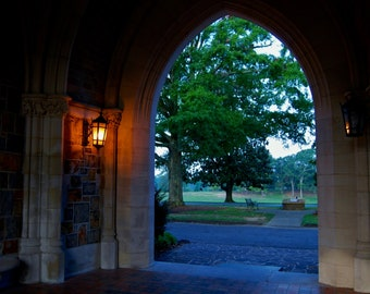 Fine Art Photography-Romantic Arch-Southern, Nature, Architectural, Garden, Landscape, Collegiate, Travel Photography-8x10 Wall Art