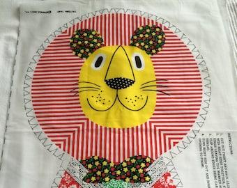 Rawr - sew some vintage lion pillow panels!