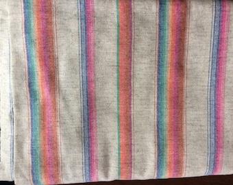 "vintage wool fabric - rainbow, 2.5+ yardage, wide width (62"")"