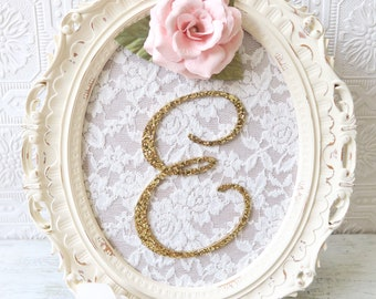 Baby Name Sign, Girl Nursery Letters, Wooden Letters For Nursery, Baby Girl Nursery Decor, Flower Letter Sign, Floral Wall Letters