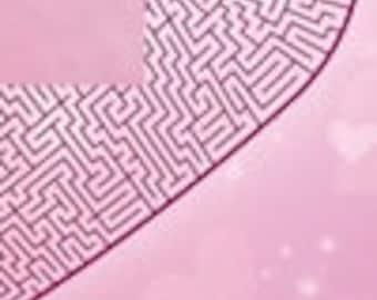 A-maze-ing Love, printable PDF maze